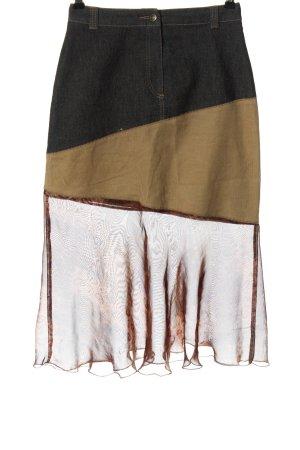 Hirsch Spódnica midi jasnoszary-brązowy W stylu casual
