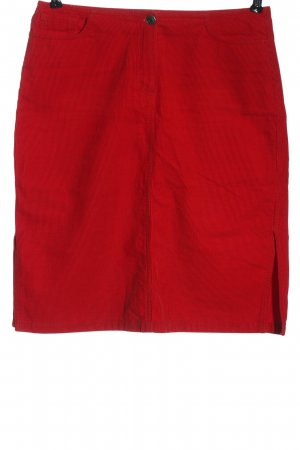 Hirsch Mini rok rood casual uitstraling