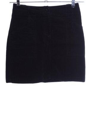 Hirsch Mini rok zwart casual uitstraling