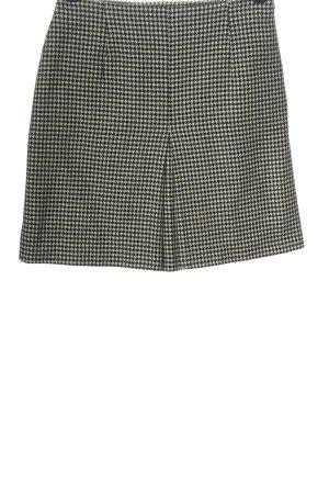 Hirsch Mini rok zwart-wit volledige print casual uitstraling