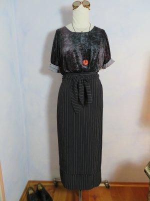 Hirsch Wraparound Skirt dark blue-white