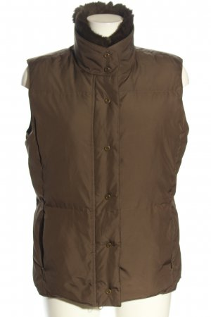 Hirsch Quilted Gilet brown quilting pattern casual look