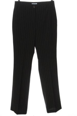 Hirsch Pantalone jersey nero-grigio chiaro motivo a righe stile professionale