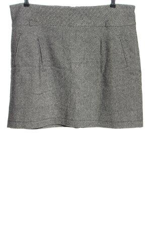 Hirsch Jupe tricotée gris clair moucheté style décontracté