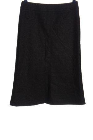 Hirsch Wollen rok zwart zakelijke stijl
