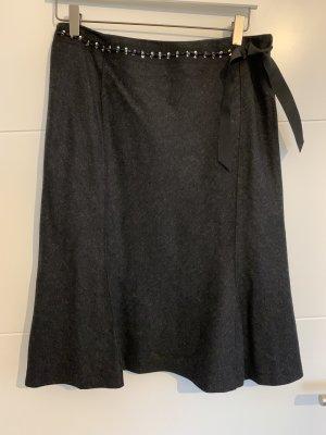 Hirsch Wraparound Skirt anthracite-black