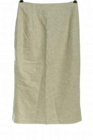 Hirsch Wool Skirt natural white flecked business style