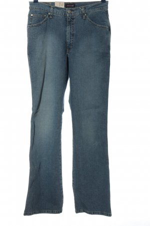 His Jeansschlaghose blau Casual-Look