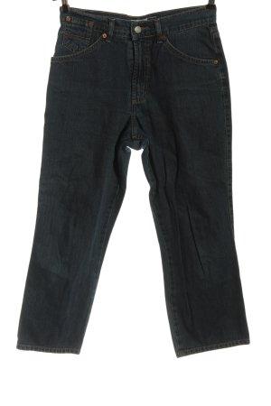 His Jeansy z prostymi nogawkami niebieski W stylu casual