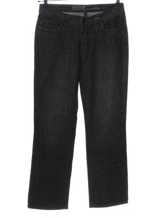 His Jeansy z prostymi nogawkami jasnoszary W stylu casual