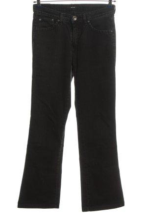 His Jeansy z prostymi nogawkami czarny W stylu casual