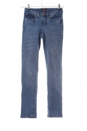 His Stretch Jeans blau schlichter Stil