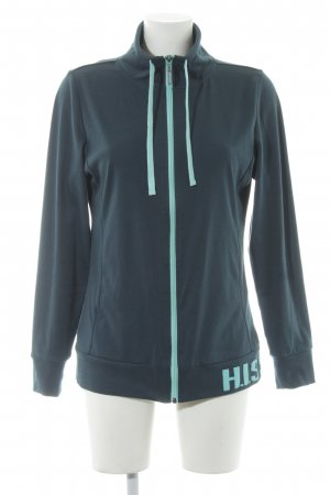 His Sweatjacke petrol-hellblau Casual-Look