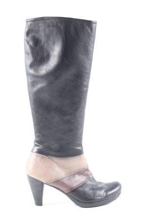 Hispanitas Reißverschluss-Stiefeletten Streifenmuster Business-Look