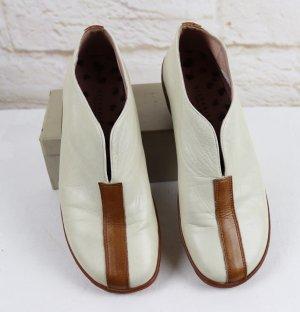 Hispanitas Schuhe Leder 36 Twotone Beige Braun Nude Schlüpfschuhe Ankle Boots