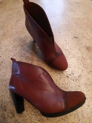 Hispanitas Schuhe rot Stiefeletten Herbst Leder