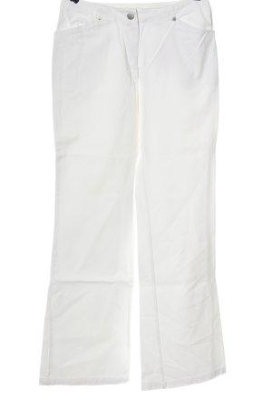 Hiza Jeansy o kroju boot cut biały W stylu casual
