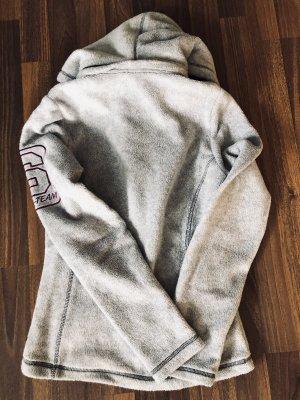 HKM Chaqueta de forro polar gris claro