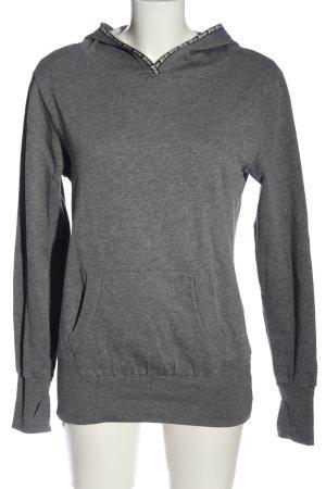 HKMX Kapuzensweatshirt hellgrau meliert Casual-Look