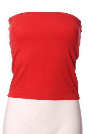 HM Top z dekoltem typu bandeau czerwony W stylu casual
