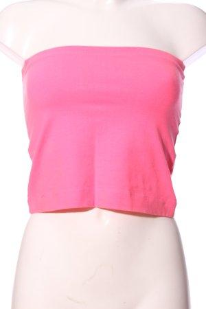 HM Top z dekoltem typu bandeau różowy W stylu casual