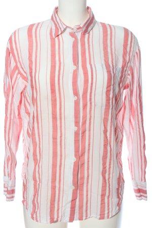 HM Hemd-Bluse rot-weiß Streifenmuster Business-Look