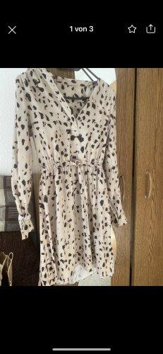 H&M Sukienka z rękawem balonowym camel