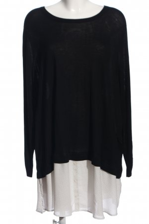 HM Langarm-Bluse schwarz-weiß Casual-Look
