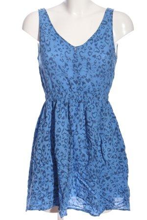 HM Minikleid blau Allover-Druck Casual-Look