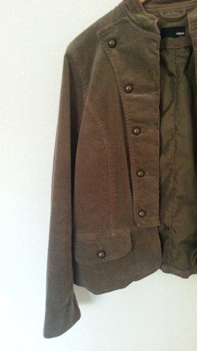 HM Samt vintage Jacke graubeige  Gr. 38