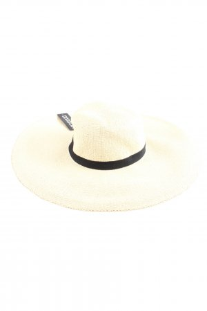 HM Straw Hat natural white casual look