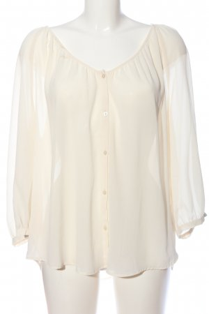 HM Transparenz-Bluse creme Business-Look