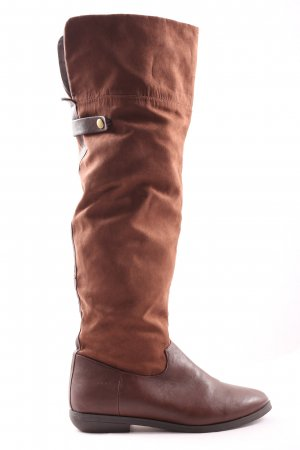 HM Wide Calf Boots brown-bronze-colored casual look