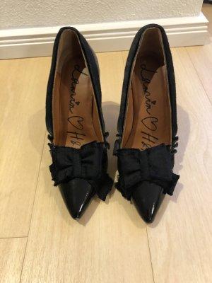 HM x Lanvin schwarze Lack High Heels