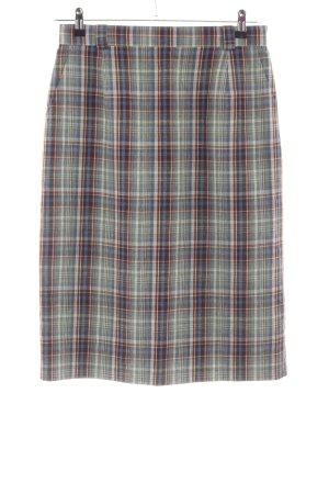 HMC Falda de lino estampado a cuadros look casual