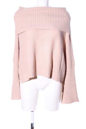 Rollkragenpullover pink Zopfmuster Casual-Look