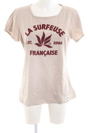 HOALEN T-Shirt wollweiß meliert Casual-Look