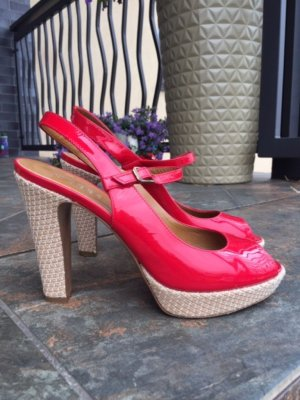 Hobbs 37.5 , red patent leather sexy heels