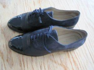Hobbs London Derby dark blue leather