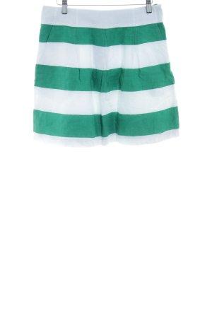 Hobbs Faltenrock weiß-waldgrün Streifenmuster Beach-Look