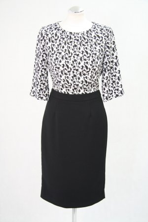Hobbs Kleid in Schwarz-Weiß mit Muster