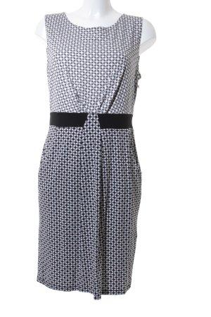 Hobbs Trägerkleid schwarz-weiß grafisches Muster schlichter Stil