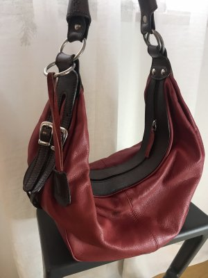 Airoldi Bolsa Hobo marrón-negro-rojo ladrillo