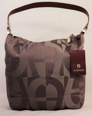 Aigner Bolsa Hobo marrón claro-marrón tejido mezclado