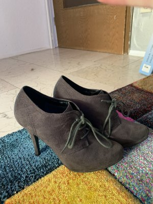 Graceland Chaussure à talons carrés gris anthracite