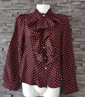 Ruffled Blouse black-red