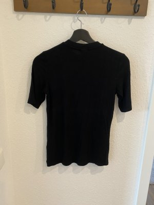 Gina Tricot Prążkowana koszulka czarny