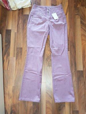 hochgeschnittene Fliederfarbene Hose NEU mit Etikett Gr. 34