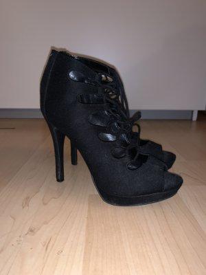 Catwalk Tacones con cordones negro