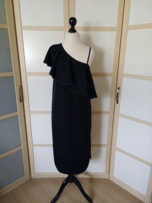 Rodebjer Sukienka na jedno ramię czarny Włókno octanowe